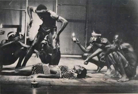 Robert Serumaga's Amayirikiti on stage